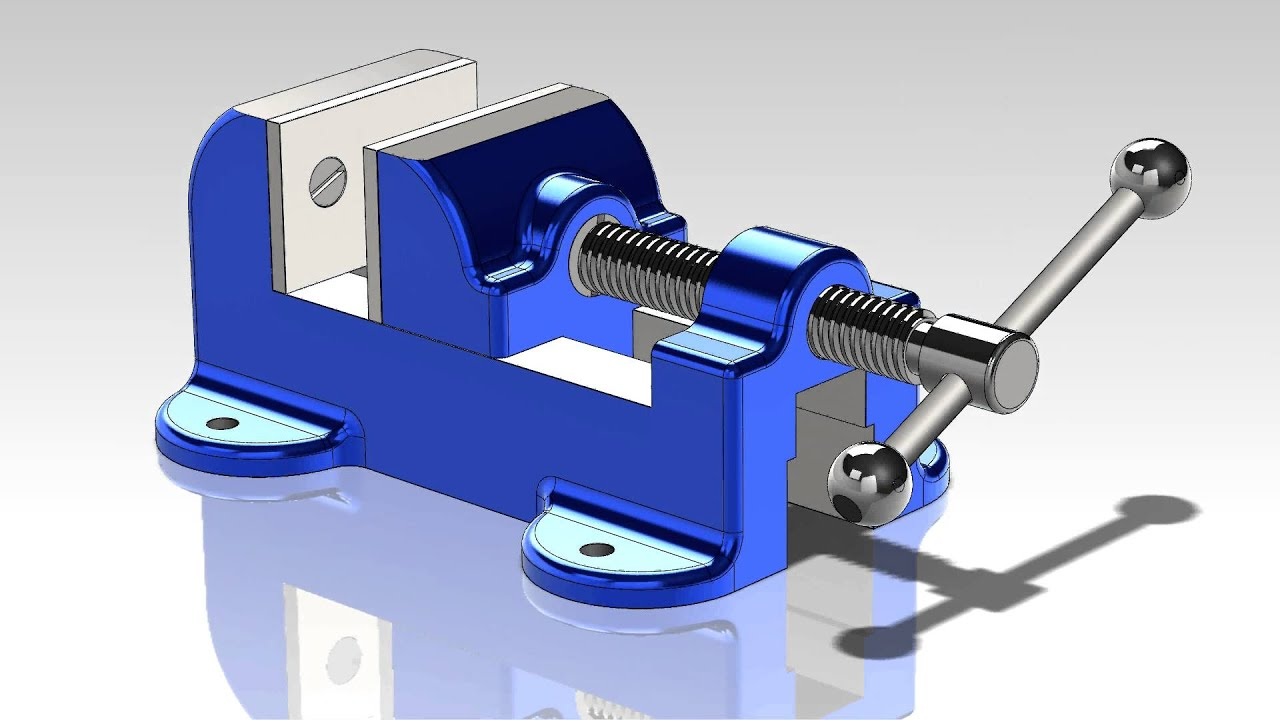 workshop vice animated solidworks model youtube