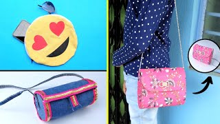 3 DIY Purse bag & pouches/Best out of waste/Handmade Storage Bag Tutorial