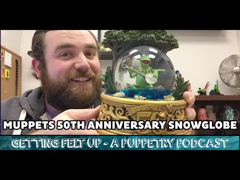 The Muppets 50th Anniversary Snowglobe Featuring Kermit