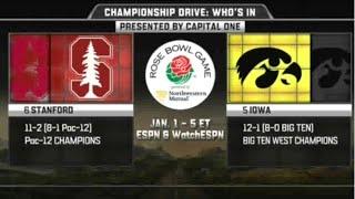 Stanford vs Iowa in Rose bowl 2016