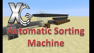minecraft redstone creation automatic vanilla item sorter