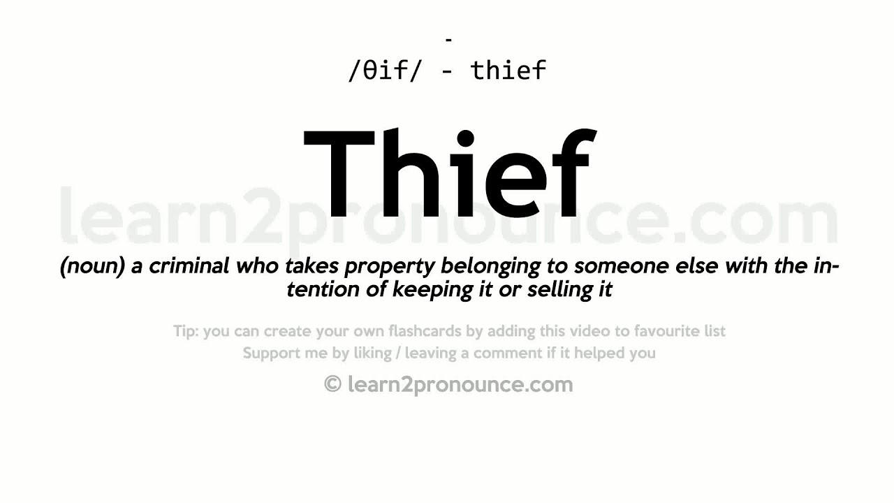 Thief pronunciation and definition