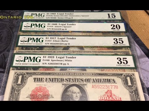 US Currency Collection:  Part 4 - Legal Tender Notes