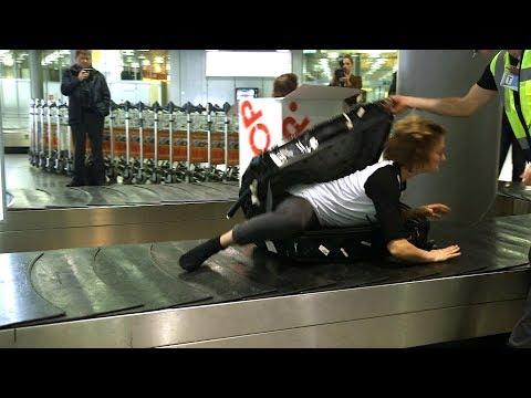 Überraschung: Lebendes Gepäckstück am Hannover Airport