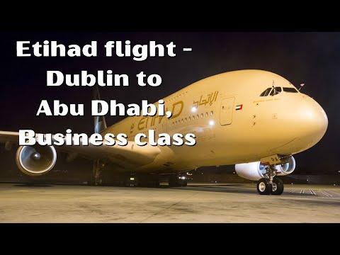 Etihad flight, Dublin (DUB) to Abu Dhabi (AUH), Business class.