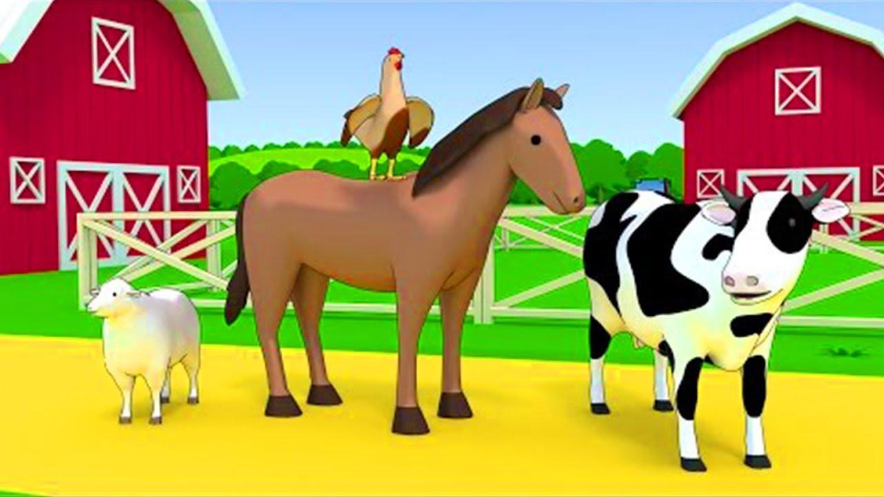 Nome e sons de animais para educação infantil - Animais selvagens e animais de fazenda