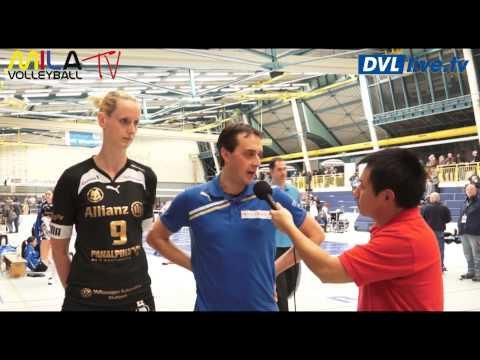 5.1.13 VC Wiesbaden Allianz MTV Stuttgart 1 Bundesliga Franziska Bremer/Jan Lindenmair