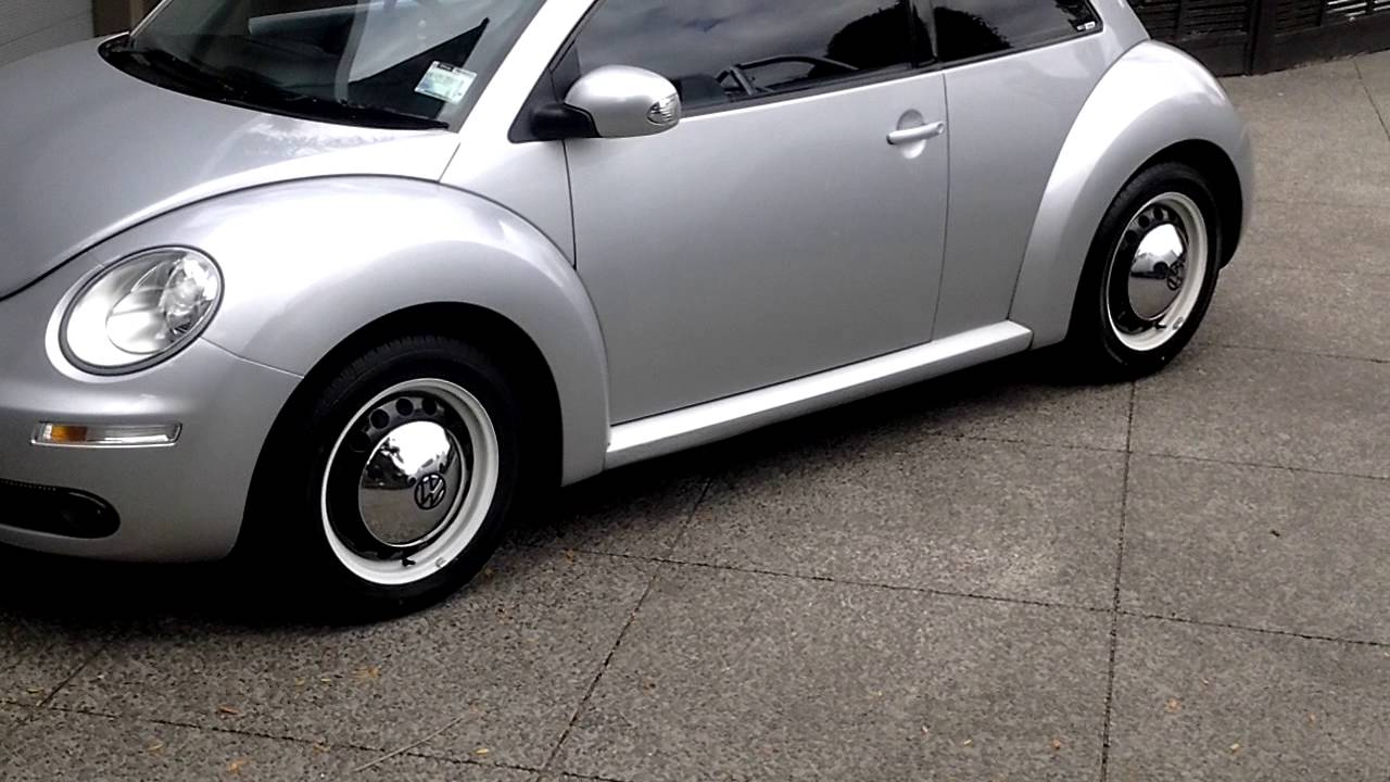 VW beetle hubcaps finished - YouTube