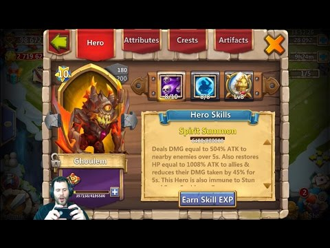 Rolling 28000 Gems For Heroes + Treasure Chests & Uncover the Treasure Castle Clash