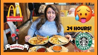 Letting the Person in Front of Me DECIDE What I Eat for 24 HOURS!