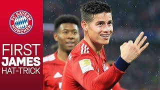 James scores his 1st FC Bayern hat-trick!