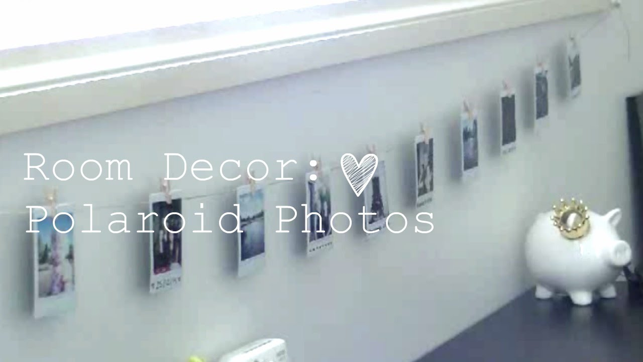 room decor polaroid photos youtube