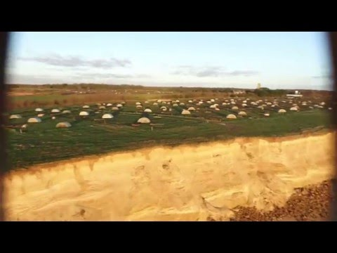 Sunrise flight over Covehithe Cliffs, Suffolk (aerial drone footage)