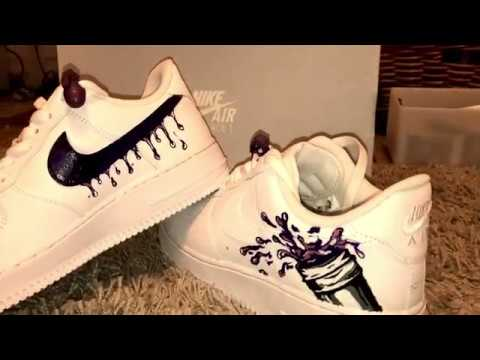 Nike air force one custom drippy Nike air force one lean