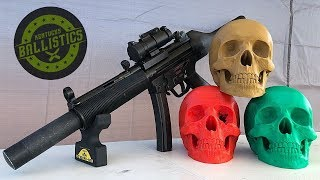 MP5 vs 3D Printed Skull (Full Auto Friday)