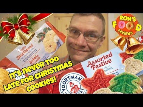Voortman Bakery Seasonal Cookies Assorted Festive Vanilla Shortbread Taste Review