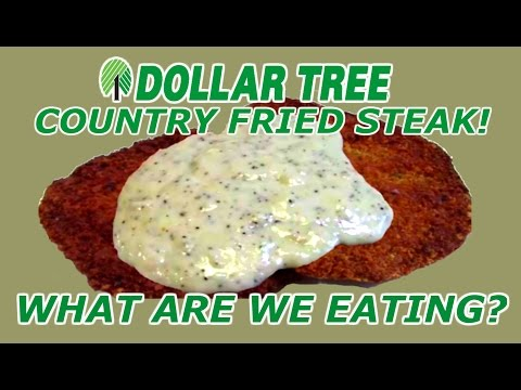 Dollar Tree ONE DOLLAR Country Fried Steak - WHAT ARE WE EATING?? - The Wolfe Pit