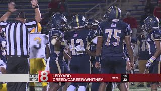 Creed/Whitney Tech knocks off Ledyard, 32-14