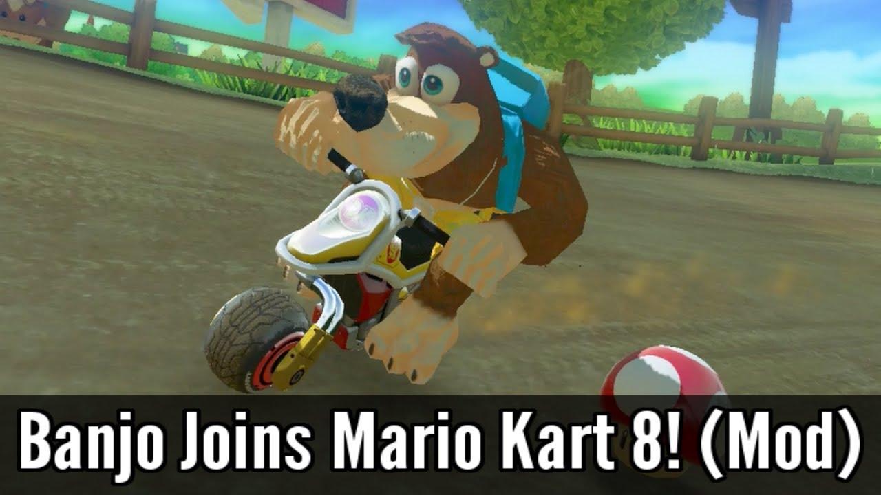 Banjo Joins Mario Kart 8 Mod Wii U Console Youtube