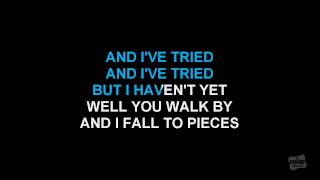 I Fall To Pieces in the style of LeAnn Rimes karaoke video