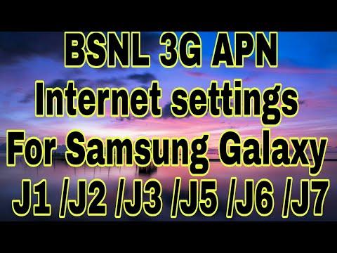BSNL 2G 3G Fastest APN Internet settings for Samsung Galaxy  J1/J2/J3/J5/J6/J7