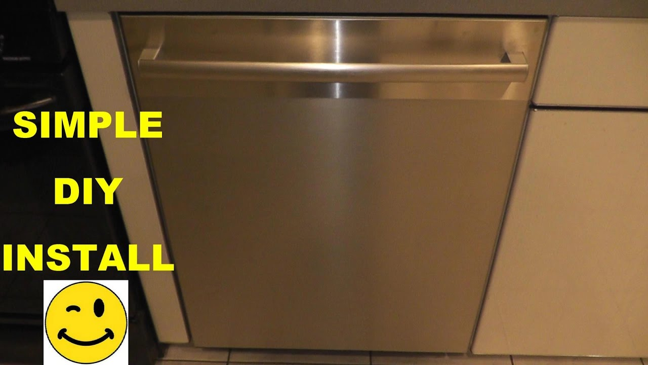 How To Install A Bosch Dishwasher Youtube