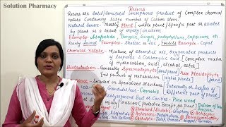 Introduction to Natural Resin- Part 1 by Solution Pharmacy in Hindi