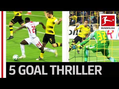 Auba Brace Not Enough - Leipzig End Dortmund's Unbeaten Home Run - Highlights
