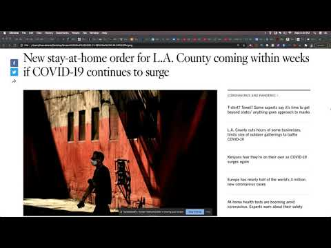 Stay At Home Orders Are Coming For LA County