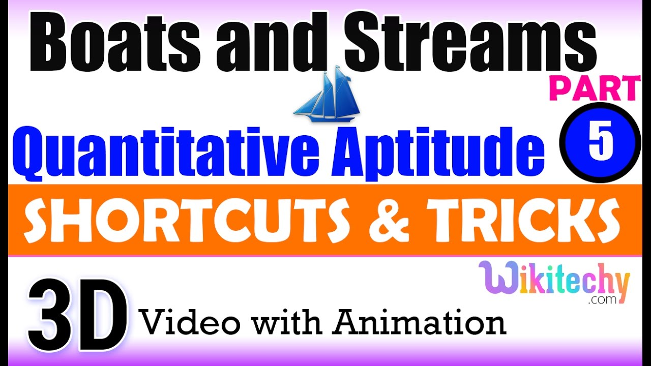 boats and streams 5 aptitude test questions and answers boats and streams 5 aptitude test questions and answers solutions online videos lectures exams