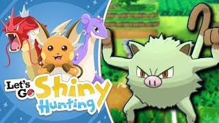MANKEY SHINY HUNTING! | Pokemon Let's Go Pikachu Shiny Living Dex!
