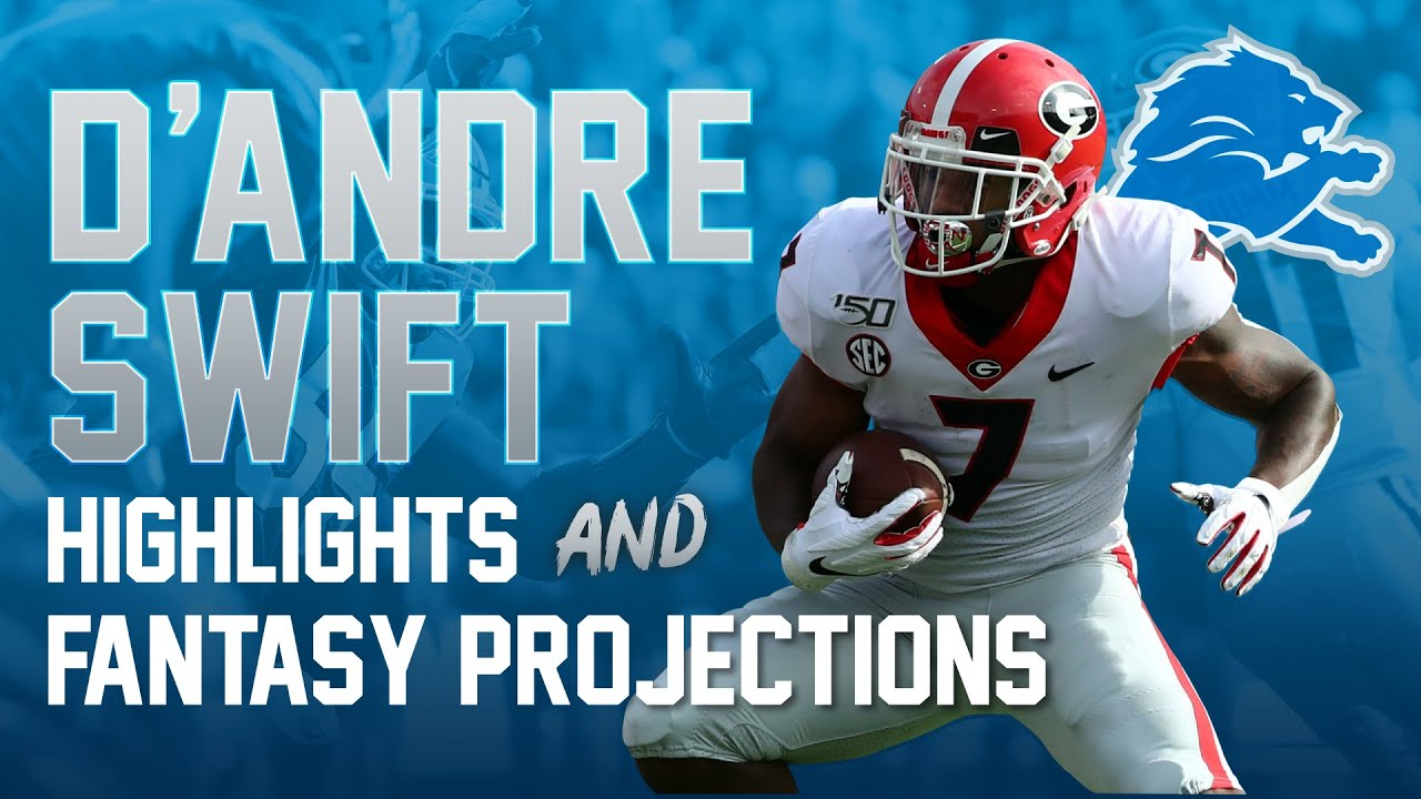D'Andre Swift Highlights + Fantasy Predictions (2020 Fantasy Football)