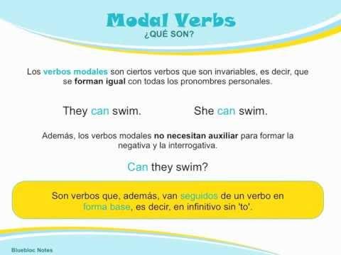 Gramática Inglés Verbos Modales Bluebloc Notes Aprender
