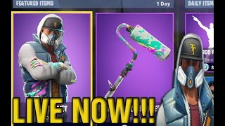 "NEW ""ABSTRAKT"" SKIN in FORTNITE! NEW Skins UPDATE NOW And Free V BUCKS With WOLF And ROSE!"