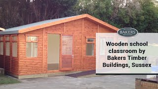 Wooden School Classroom By Bakers Timber Buildings, Sussex