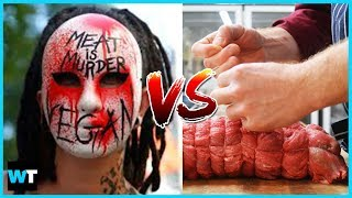The Secret WAR Between French Vegans and Butchers On Facebook | What's Trending Now!