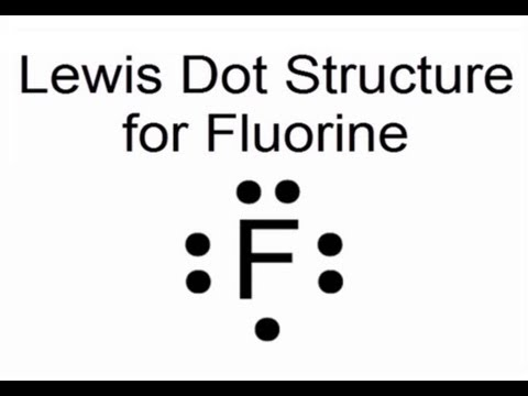 Lewis Dot Structure For Fluorine Atom F Youtube