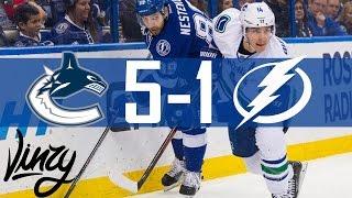 Canucks vs Lightning | Highlights | Dec. 8, 2016 [HD]