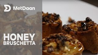 Goat Cheese, Walnut, and Honey Bruschetta   MetDaan
