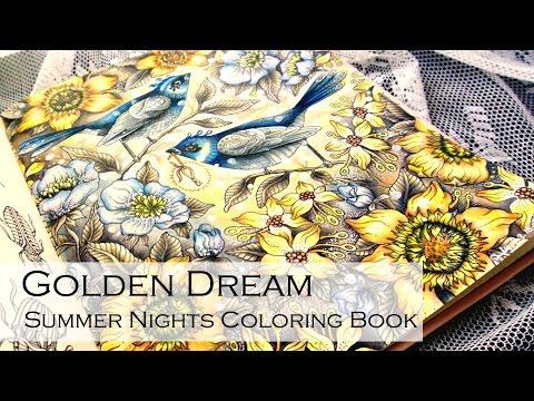 Golden Dream   Adult Coloring Book: Summer Nights Sommarnatt by Hanna Karlzon