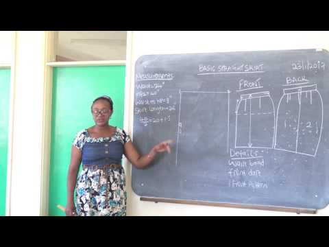 Fashion and Design lesson 10 Pattern Drafting a Dress Part 1