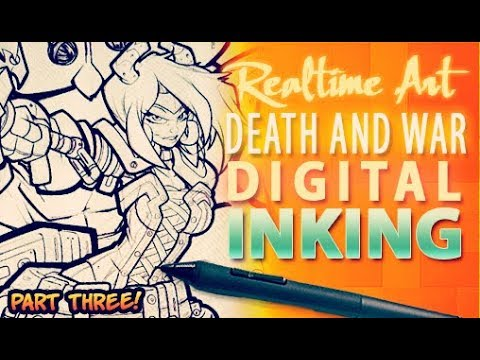 Realtime Art - Death And War Cover - Digi Inks Part 03