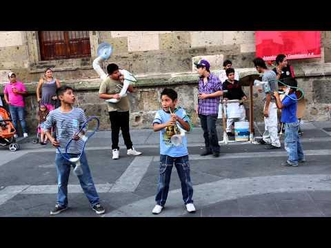 Amazing street music band @ Guadalajara JAL Mexico