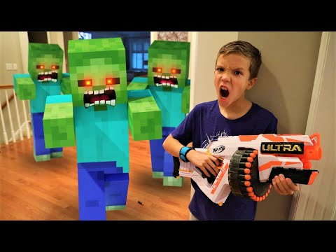 Minecraft Invasion!  Omega Sends New Ultra Nerf Blaster To Payback Time
