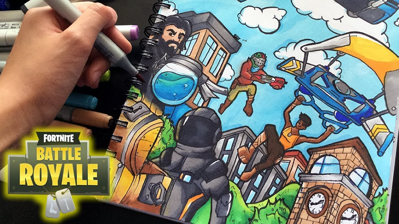 Epic Fortnite Drawing Fortnite Battle Royal Copic