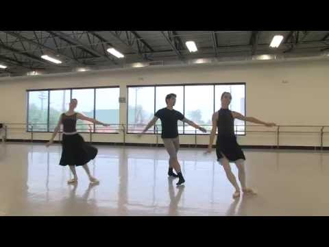 Artists of Colorado Ballet Rehearse Pas de Trois from Swan Lake