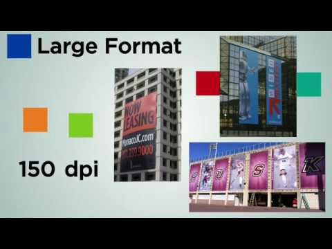 Viewing Distance and Resolution for Large Format Graphics