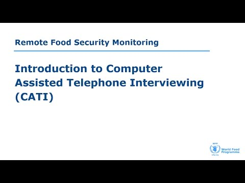 Introduction to Computer Assisted Telephone Interviewing  (CATI)