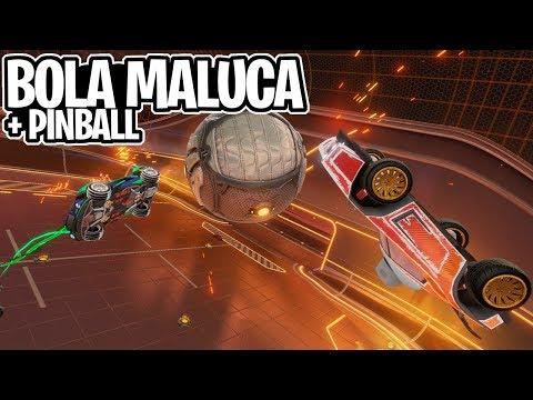 """TIVEMOS """"INIMINGOPLAY""""! A BOLA MALUCA + PINBALL NO UNDERPASS - Rocket league thumbnail"""