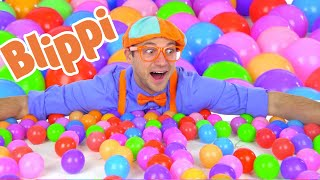 Blippi Fun and Learning With Color Balls | 1 Hour Of Blippi Learning Videos